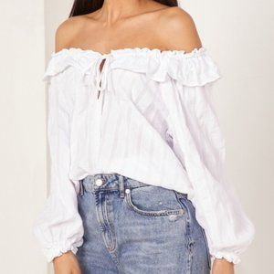Free People Lily of valley ruffle blouse NWT